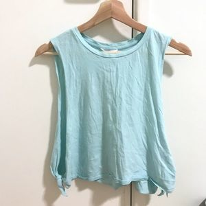 MUST GO 🌼 FOREVER 21 M TEAL MUSCLE TEE